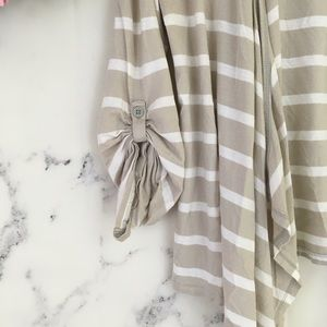 LOFT Sweaters - Ann Taylor LOFT Striped Hooded Cardigan